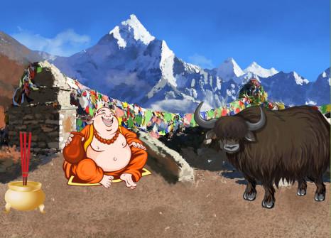 Entflieht mit euren Gefährten nach Nepal!